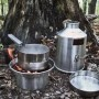 cookset together in woods